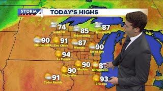 Hazy, hot, and humid Friday