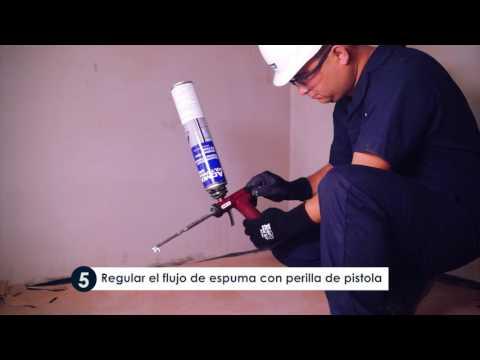 Poly Foam W&D- espuma poliuretano para sello de puertas y ventanas