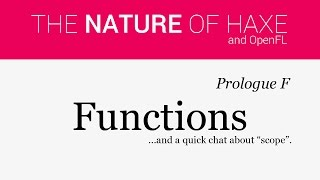 Prologue F - Functions