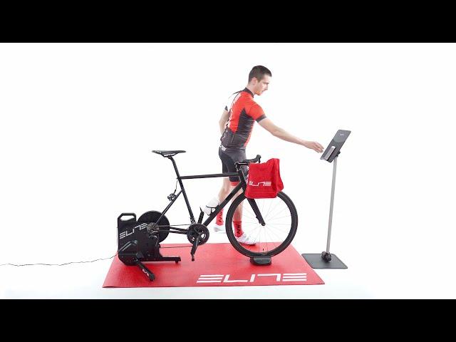 Видео Велотренажер интерактивный Elite Suito-T Cycletrainer черный