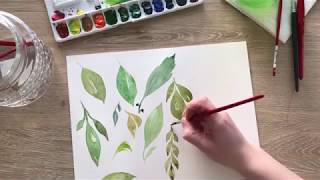 Watercolor Basics: How To Paint Simple Leaves