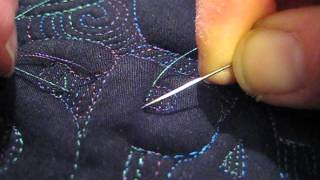 Machine Quilting: Knotting and Burying Ends