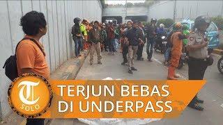 Seorang Pria Terjun Bebas dari Underpass Senen Sempat Mondar Mandir