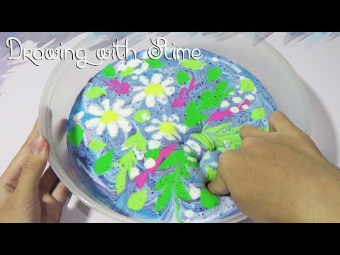Drawing With Slime | DIY Homemade Unique Slime Painting Tutorial
