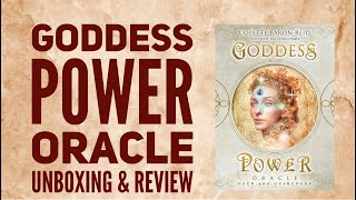 Goddess Power Oracle Cards By Colette Baron Reid, Unboxing And Review.