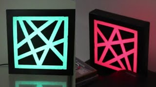 Make A L.E.D Sticky Tape Stencil Light Box!