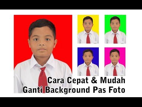 Video Cara Mudah Ganti Background Pas Foto dengan Photoshop