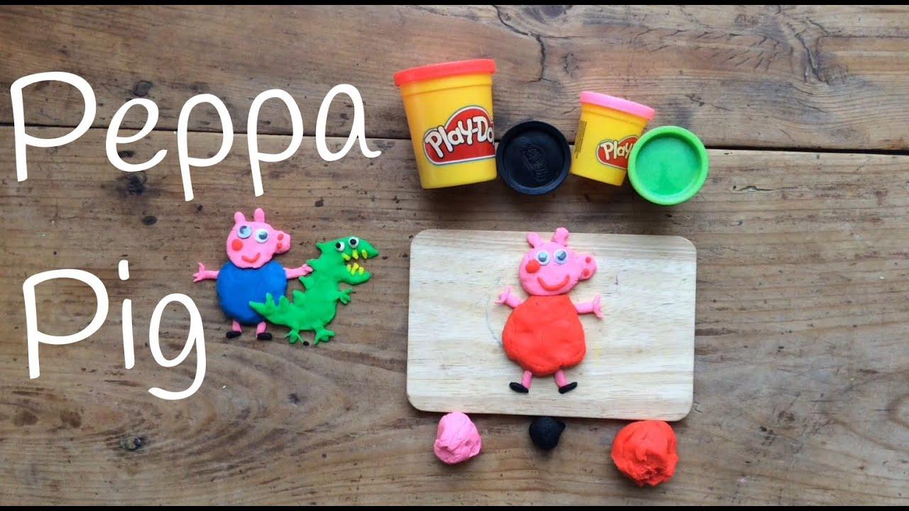 PEPPA PIG de Play Doh en español | Figuras de PLASTILINA fáciles de hacer