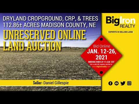 Land Auction 112.86+/- Acres Madison County, NE