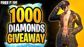 Free Fire 1000 Diamond GIVEAWAY (2021 Happy New Year Gift)