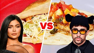 Bad Bunny Vs. Kylie Jenner: Who Makes The Best Taco? • Celebrity Recipe Royale