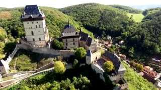 Karlstejn Castle, Czech Republic, from the air