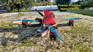 "Toothpick 2.5"" + brotherhobby 1103 + hqprop 65mm #fpvaddiction #fpvfreestyle"