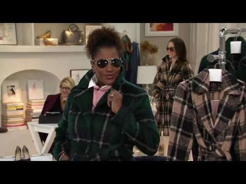 Isaac Mizrahi Live! Brushed Plaid Snap Front Coat with Belt on QVC