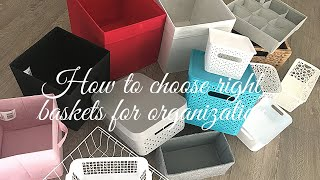 How To Choose Right Baskets For Organization   Kitchen And Home Organization Ideas Using Baskets