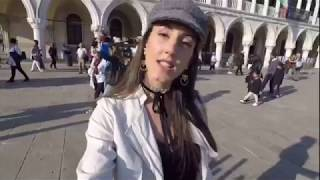 Sarah Bianchi Influencer in Venice with MyWoWo Travel App english sub