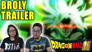 Dragon Ball Super BROLY MOVIE English Dub Trailer REACTION