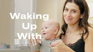 A Morning with Hilaria Baldwin, Baby, and her 'Mom Brain' | Waking Up With...  | ELLE