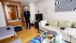 Living in Seoul - $65 Apartment Tour in South Korea + LOVE YOU Slippers!