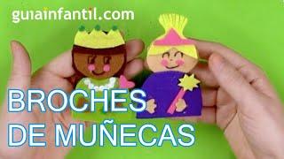 Cómo fabricar broches de muñecas con fieltro