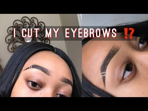 ATTEMPTING THE EYEBROW WITH SLIT