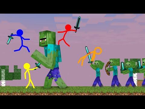 , title : 'Stickman VS Minecraft: Giant Zombie Apocalypse School - AVM Shorts Animation'