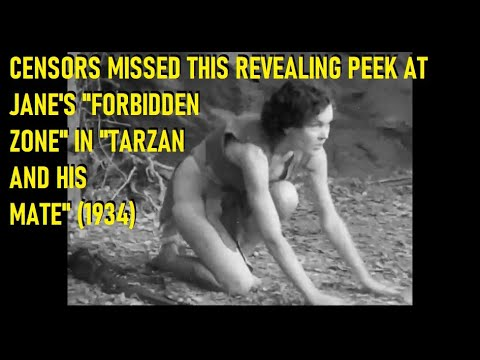 "Censors Missed Revealing Peek At Jane's ""Forbidden Zone"" In TARZAN & HIS MATE (1934)"