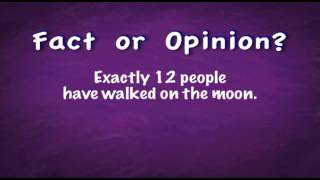 Fact Versus Opinion Song - Educational Music Video