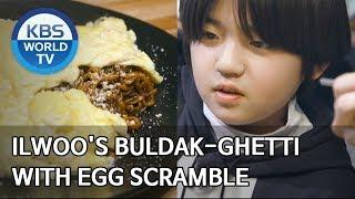 Kanghoon trying Ilwoo's Buldak-ghetti [Stars' Top Recipe at Fun-Staurant/2020.03.16]