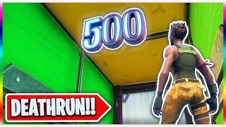 The Super Easy 500 LEVEL Default Deathrun! (Fortnite Creative Mode)