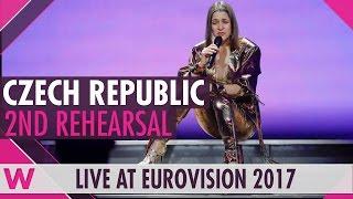 "Second rehearsal: Martina Bárta ""My Turn"" (Czech Republic) Eurovision 2017 | wiwibloggs"