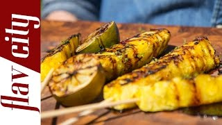 Grilled Pineapple Skewers - Fruit Skewers Recipe