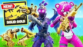 FORTNITE *NEW* SOLID GOLD BATTLE ROYALE GAMEPLAY! | LEGENDARY GUNS ONLY! (Patch v5.30)
