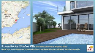 preview picture of video '3 dormitorios 2 baños Villa se Vende en San Pedro Del Pinatar, Alicante, Spain'