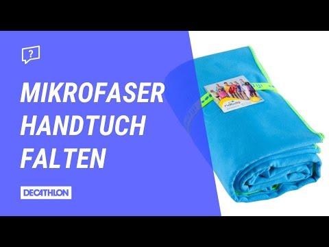 Mikrofaser Handtuch einfach zusammenlegen | Anleitung
