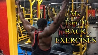 Top 10 Back Exercises For Mass Size and Definition