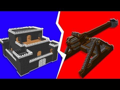 Scrap Mechanic - Castle Siege EXPLOSIVE Catapult Challenge   JeromeACE