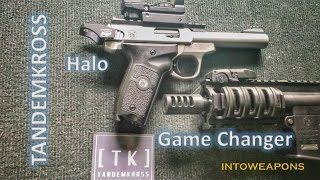 SW22 Halo Charging Handle & Game Changer Compensator