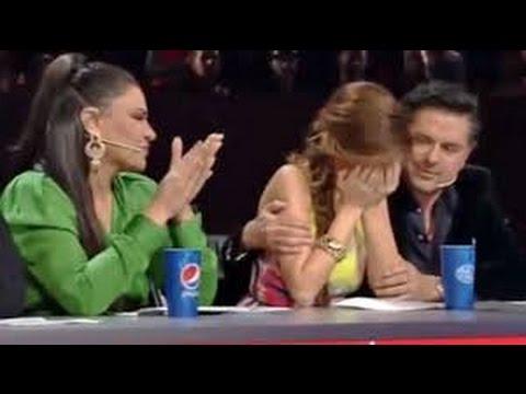 Arab idol_ شرين عبد الوهاب تبكي لجنة التحكيم كده يا قلبي
