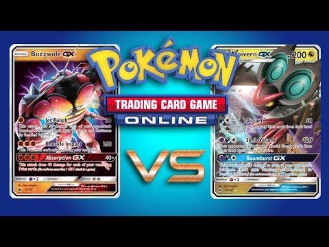 Buzzwole GX / Lycanroc GX vs Noivern GX – Pokemon TCG Online Gameplay