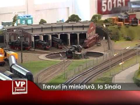 Trenuri în miniatură, la Sinaia