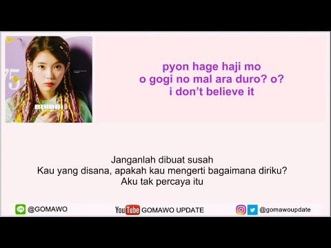Easy Lyric IU - BBIBBI By GOMAWO [Indo Sub]