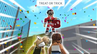 trick or treating in BLOXBURG with the NEW UPDATE FEATURES... I'm christmas