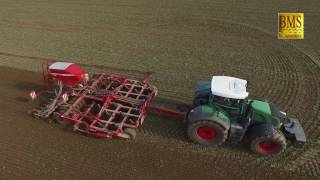 Blattfrucht-Weizen drillen/säen - Fendt 939+Horsch Pronto 4DT-Rübenverladung -wheat drilling/seeding