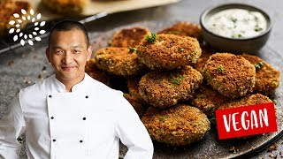 Gemüse Nuggets mit Gurken-Dip [Rezept] - Vegan