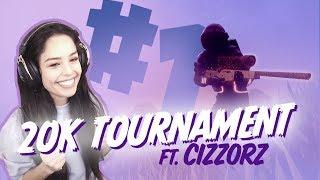 $20k Friday Fortnite Tourney Match Win! with FaZe Cizzorz! Valkyrae Fortnite