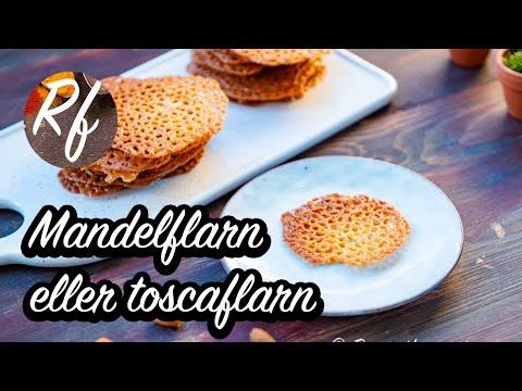 Baka flarn med mandel, mjöl, smör, glykos och lite grädde. Mandelflarnen blir goda, knäckiga och spröda. Kallas även toscaflarn och kan serveras som de är som kakor, till garnering av desserter, glass och sorbet eller böjas.>