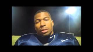 Preview interview with Senior LB John Stevenson 11-14-2012