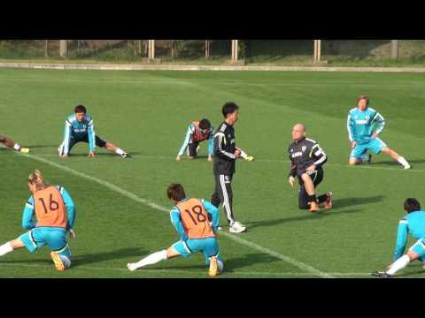 サッカー日本代表のアップ