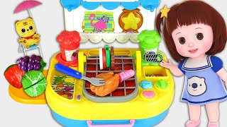 Baby Doli baby doll cooking grill food and mart play toy